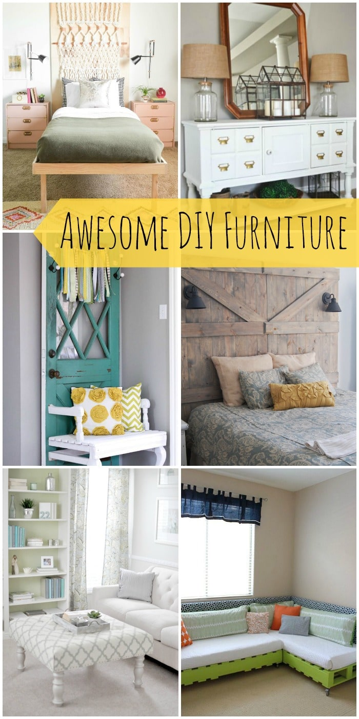A roundup of awesome DIY furniture that will give you lots of ideas for creating your own furniture! { lilluna.com }