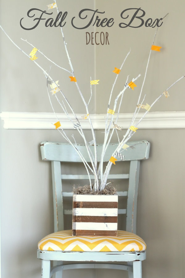 Beautiful Fall Tree Box Craft { lilluna.com } Easy to put together and super cute! Few supplies needed!
