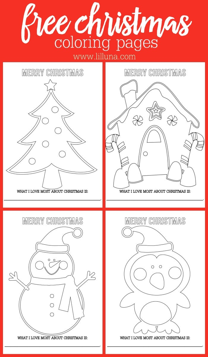 Free Christmas Coloring Pages. Fun pages that the kids will love coloring!