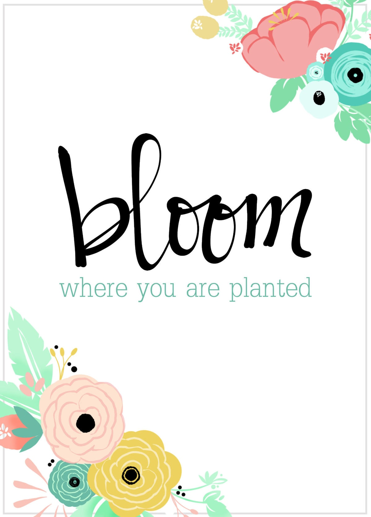 BHG Rustic Charm Home Decor. Great ideas to help you decorate!! Bloom Where You Are Planted Print on lilluna.