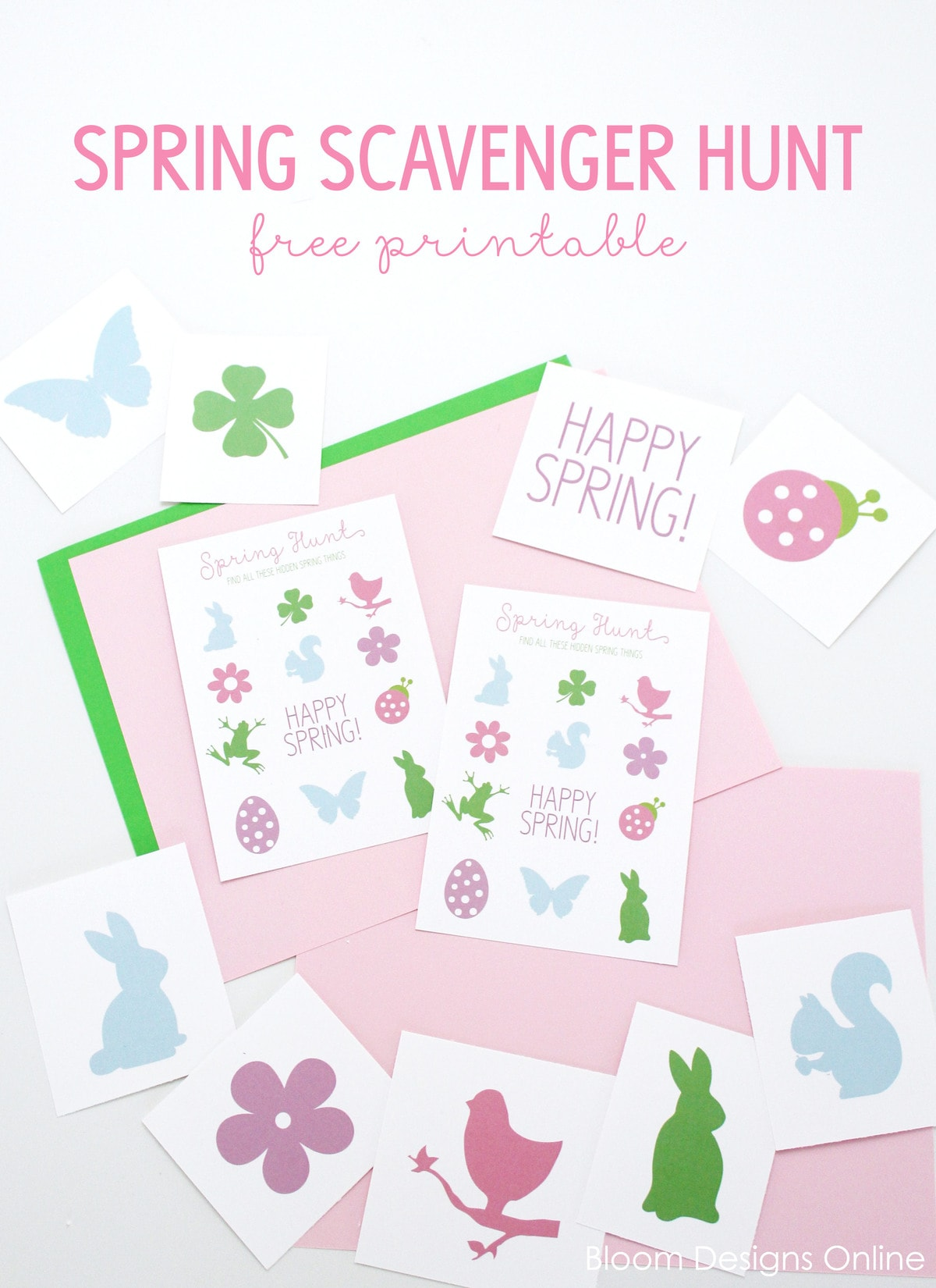 FREE Spring Scavenger Hunt printable - a fun and simple activity for the kids to do in the Spring or even inside on a rainy day!