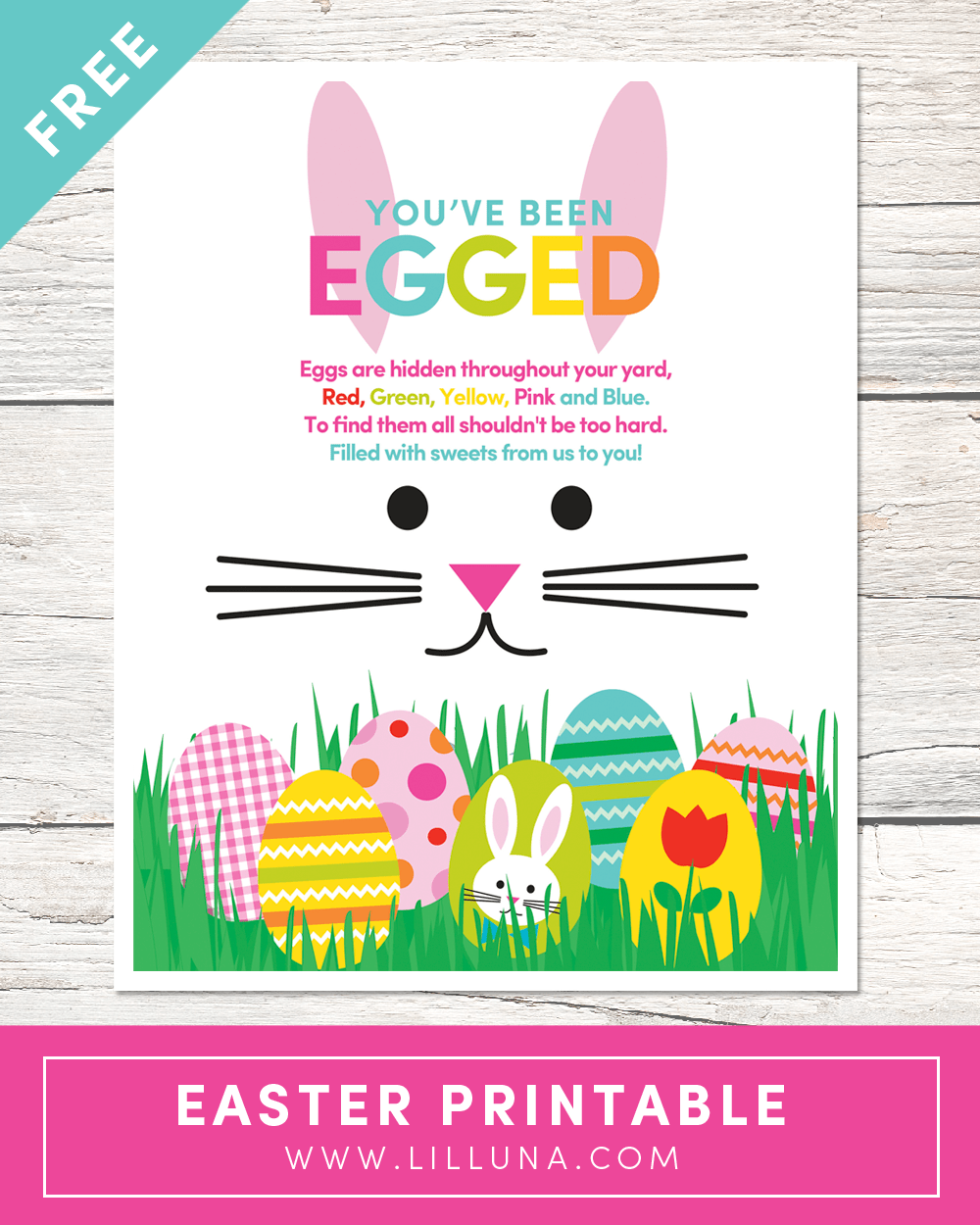 You've Been Egged Printable - a fun tradition to do as a family for friends and neighbors! The kids love doing this!