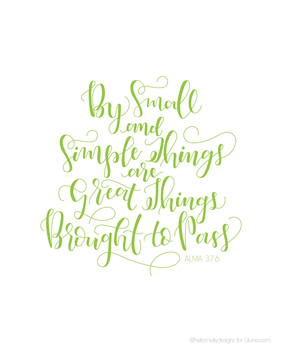 By Small and Simple Things Printable Green-02
