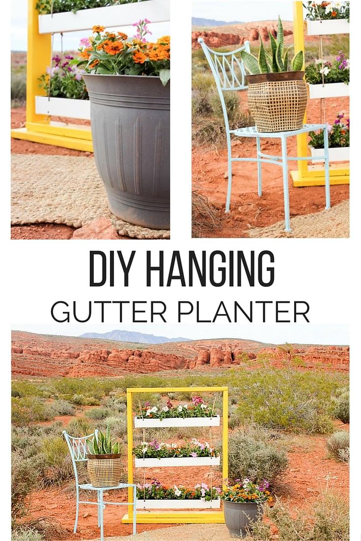 DIY Hanging Gutter Planter