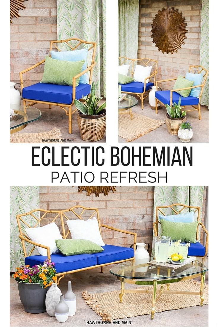 Eclectic Bohemian Patio Refresh