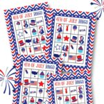 FREE 4th of July Bingo Printable - perfect to print up and use in between Independence Day Festivities with family and friends or while waiting for the fireworks to start!!
