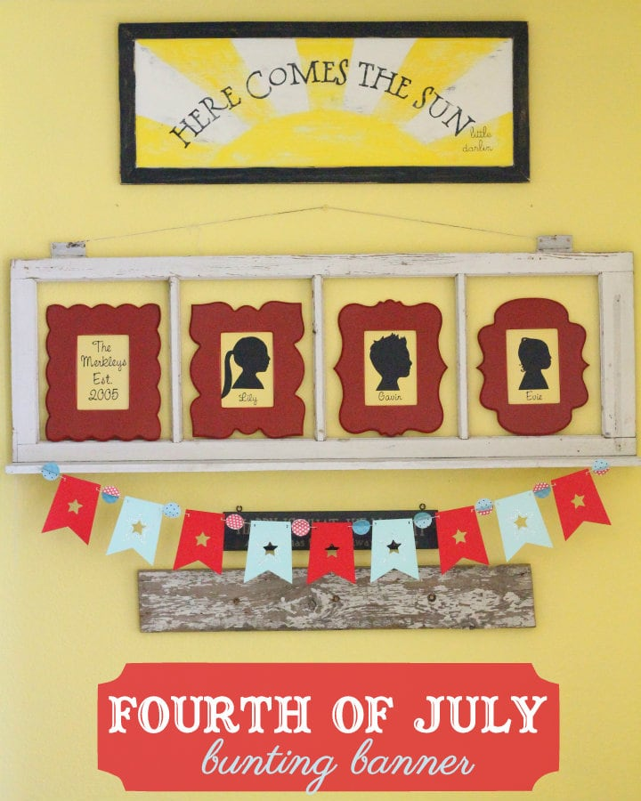 Fourth of July Banner. Easy and cute - I'm makingt this! #fourthofjuly
