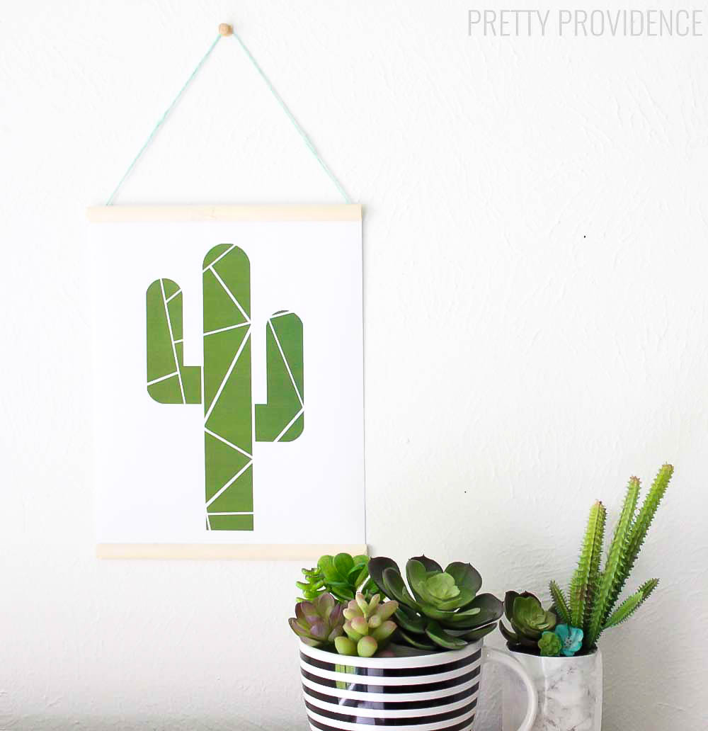 FREE Geometric Cactus Printable - perfect to display in any room of the house!