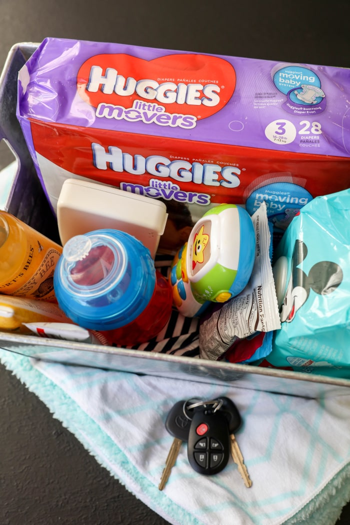 Diaper Bag & on the go Essentials Printable List + tips for getting out with your active baby!