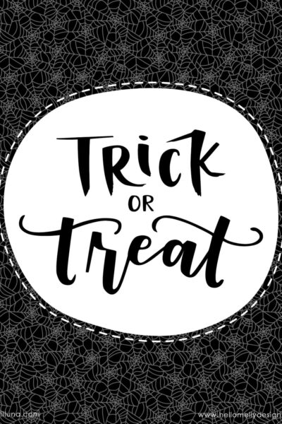 Free Trick or Treat Halloween Printables - perfect to display in your home or even for parties!