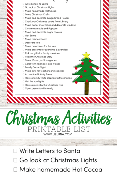25 FUN Christmas Family Activity Ideas to help start new traditions, make fun memories and make December merrier!