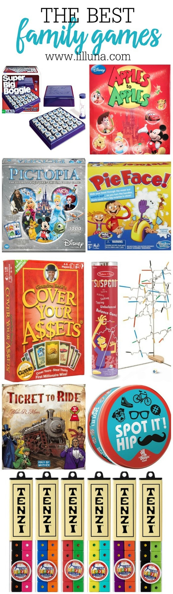 A collection of some of the BEST Family Games to collect and play with your family. They make great gift ideas too and provide hours of fun!!