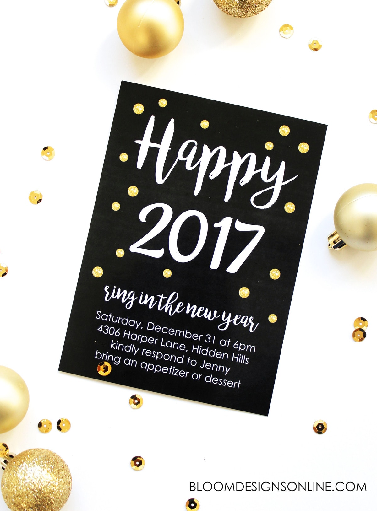 A great party starts with a great invitation! Use this Editable New Year's Invitation to help plan your amazing party. Just download and edit!