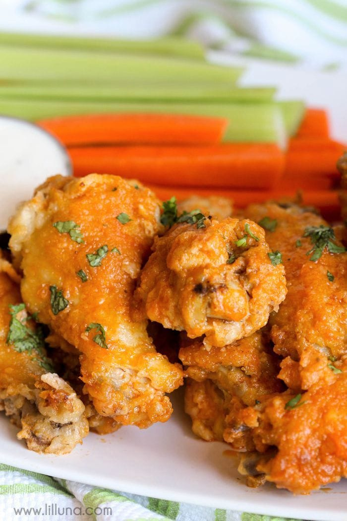 Baked Hot Wings - this delicious appetizer is simple and so delicious. Great for parties and events!