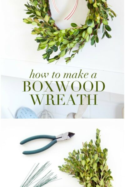 How to make a Boxwood wreath!! These wreaths are so versatile and add such a great pop of greenery where ever you place them!