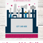 FREE Valentine's Day Gift Card Holder - No one measures up to you!! Perfect for your loved one and so cute!