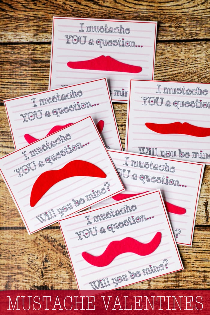 MUSTACHE & LIP PUTTY Valentines - free tags to go with these non-candy Valentines ideas that are cute, quick and cheap!