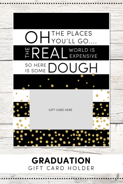 FREE Graduation Gift Card Holder Print - just attach a gift card and give to your favorite graduate for a simple and cute gift idea!