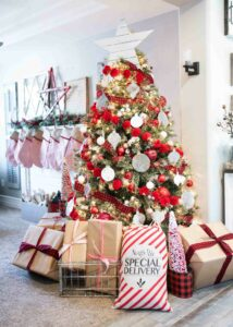 How to Decorate a Christmas Tree - Rustic Christmas Tree