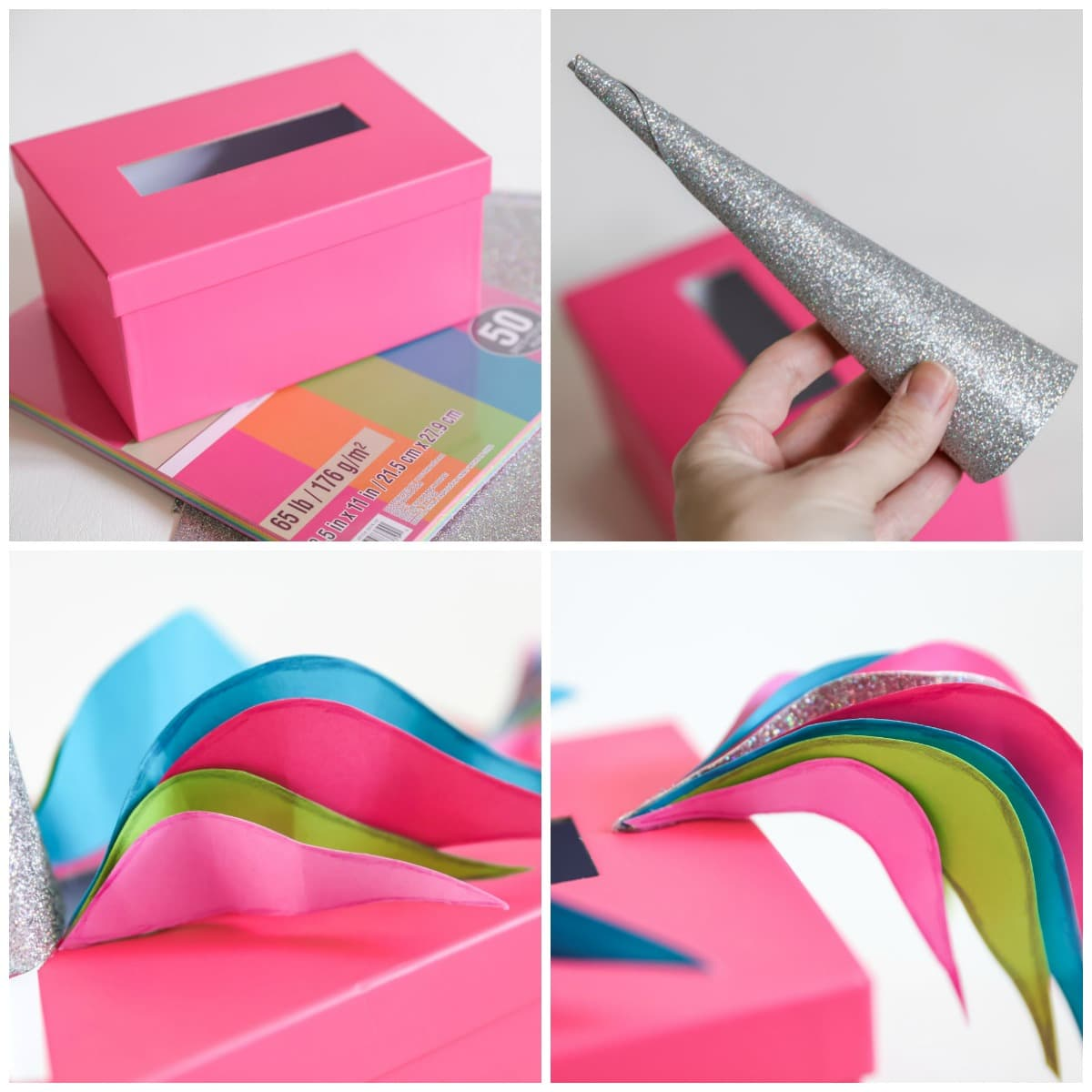 How to Make Unicorn Valentine Box