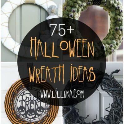 A collection of 50+ Halloween Wreath Ideas