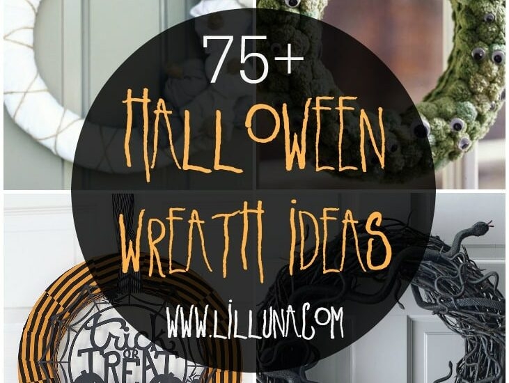 A collection of 50+ Halloween Wreath Ideas